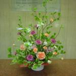 (枝)満作(花)オーニソガラム、カーネーション、スプレーカーネーション、トルコききょう(葉物)ナルコラン
