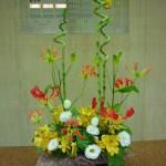 (花)グロリオーサ、トルコききょう、モカラ(葉物)スパイラルバンブー、木苺