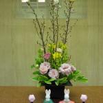 ひな祭り第2弾です。[枝]啓翁桜、[花]菜の花、トルコききょう(セレブラブリーピンク)、[葉]ナルコラン